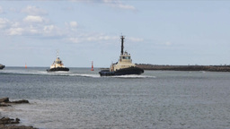 two tugboats Footage