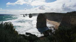 backlit twelve apostles Footage