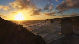 twelve apostles sunset 60fps Footage