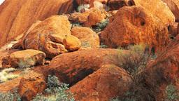 base of uluru boulders Footage