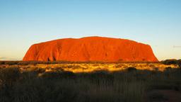 ayers rock at sunset close up Footage