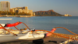 diamond head and outrigger canoes Footage
