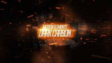 Dark carbon cinematic intro After Effects Template