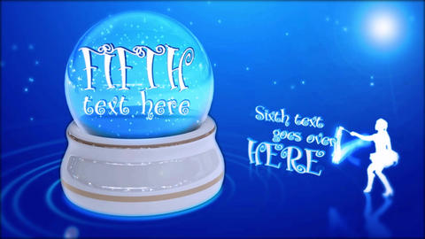 Happy new year in glass snowball After Effects Template