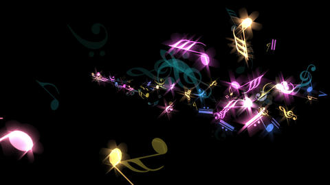 Music Notes - Sparking Jet Transition - 04 Animation