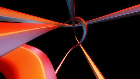 colorful line twist Animation