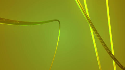 yellow fiber lines Animation