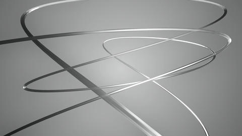 Silver Cuved Cables stock footage