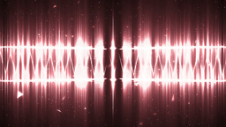 Audio Red Equalizer stock footage