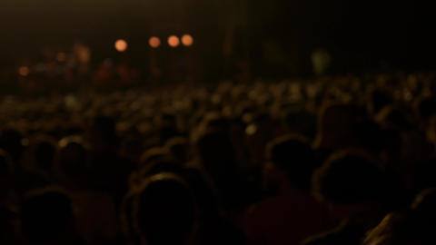 Out of focus crowd in a concert Live Action