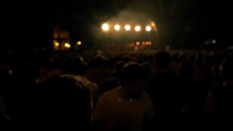 People in the concert Footage
