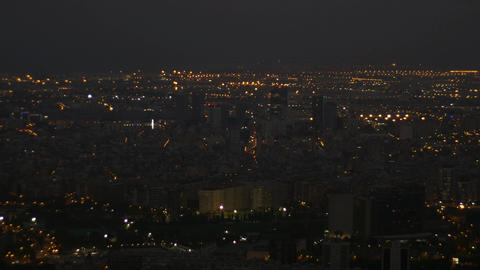 Barcelona at night from Collserola park Footage