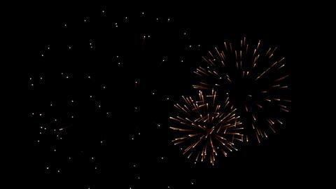 Heart shape fireworks in slow motion Footage