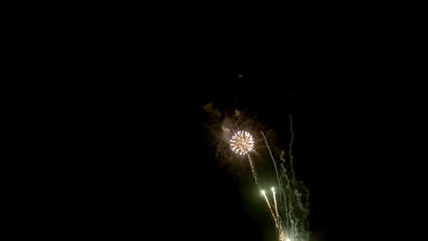 Fireworks in black background Footage