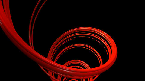 twisted red strokes Animation