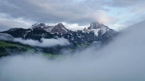 time lapse fog clouds over prags valley dolomites 11677 Footage