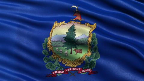 4K Vermont state flag seamless loop Ultra-HD Animation