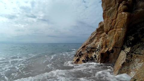 Splashing waves on the beach Footage