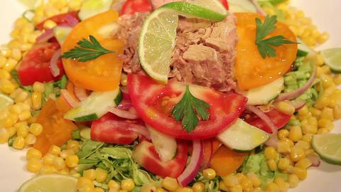 Fresh Tuna Salad Footage