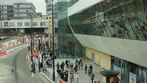 Modern Shopping Centre outside view Footage