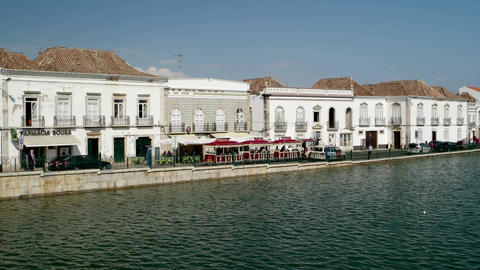 Tavira in the south of Portugal Footage