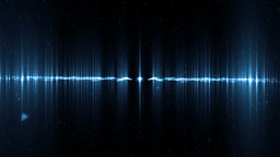 Audio Blue Equalizer stock footage