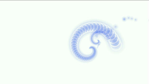 swirl ancient dragon and snake totem,swirl flower... Stock Video Footage
