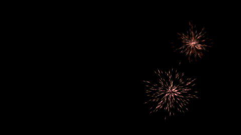 color fireworks and particles explosion at night Stock Video Footage