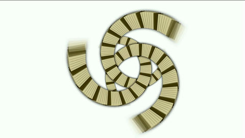 spiral stairs and send stripe shaped tunnel hole,square... Stock Video Footage