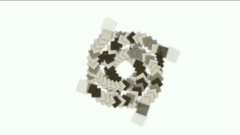 rotation square card paper tunnel hole,math geometry array,mechanic gear compass,computer tech web b Animation