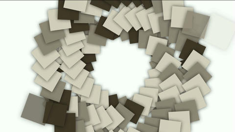 swirl stairway and rotation square paper cards tunnel... Stock Video Footage