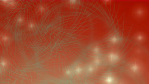 shine firefly and particles with circle against red... Stock Video Footage