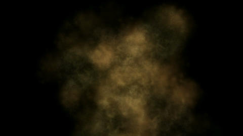 Yellow dust storms and smoke at night Animation