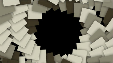 spiral stairway and rotation square paper cards tunnel... Stock Video Footage