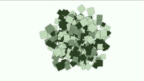 square paper cards and mosaics array background Animation