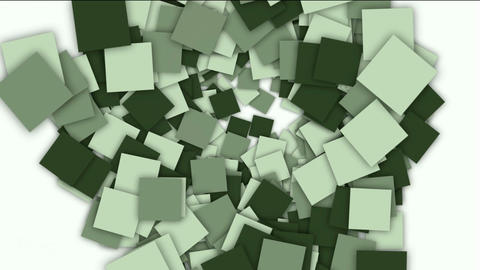 square paper cards and mosaics shaped tunnel hole,computer tech web background Animation