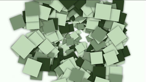 square paper cards and mosaics shaped tunnel... Stock Video Footage