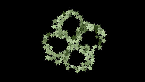 stars shaped flower fancy pattern Animation