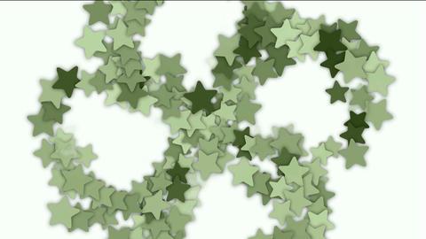 stars shaped flower fancy pattern Stock Video Footage