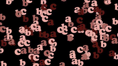 cartoon letter paper card matrix background,alphabet abc,computer screen Animation