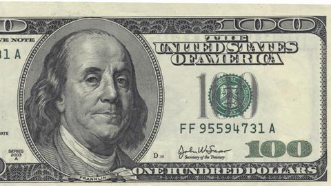 1000 US dollars Stock Video Footage