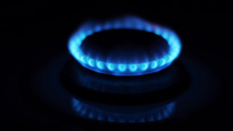 gas stove turn on Stock Video Footage