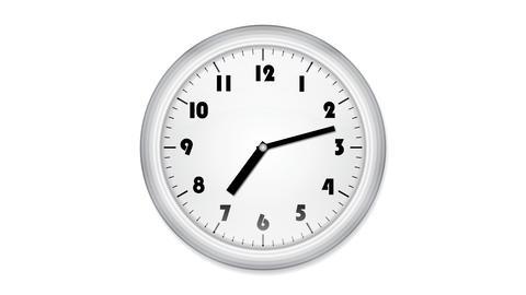 office clock loop2 Stock Video Footage