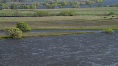 flooding of the river Stock Video Footage