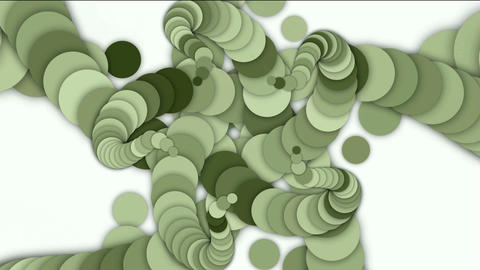 round and circle array shaped swirl flower fancy... Stock Video Footage