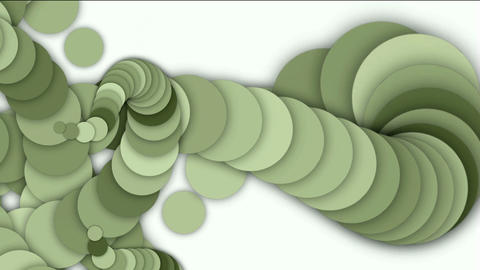 round and circle array shaped swirl long chain,like snake body and monster tail Animation