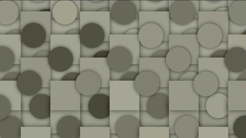 rolling circle and square mosaics pattern,Higher geometry... Stock Video Footage