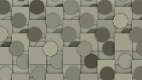 rolling circle and square mosaics pattern,Higher geometry math background Animation