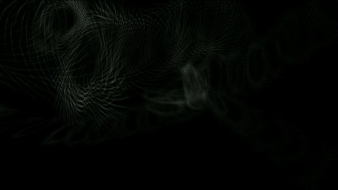 swirl grid wire and smoke in darkness space Stock Video Footage