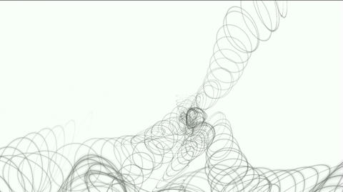 swirl circle wire shaped spring Animation